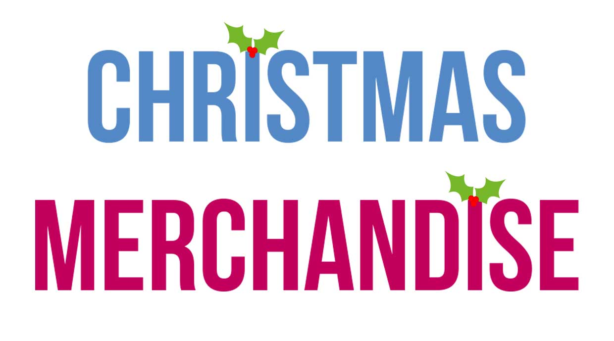 Christmas Merchandise on sale!