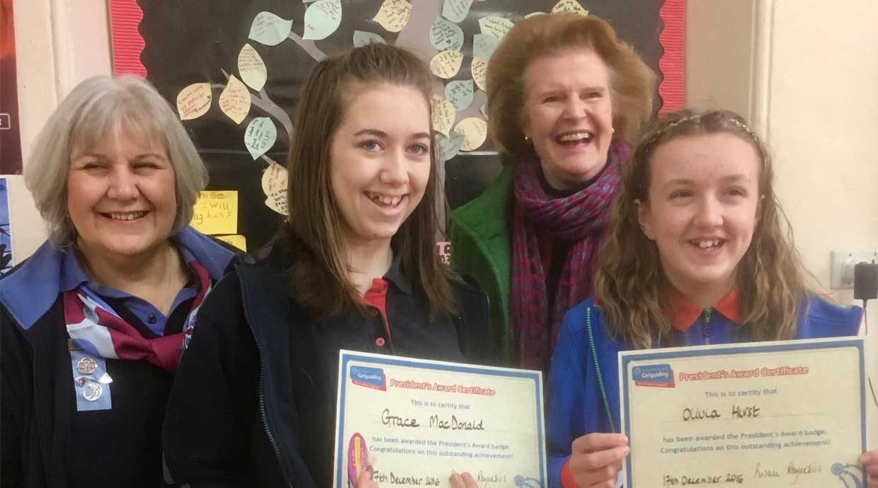 Inspirational Guides receive our brand new President's Award