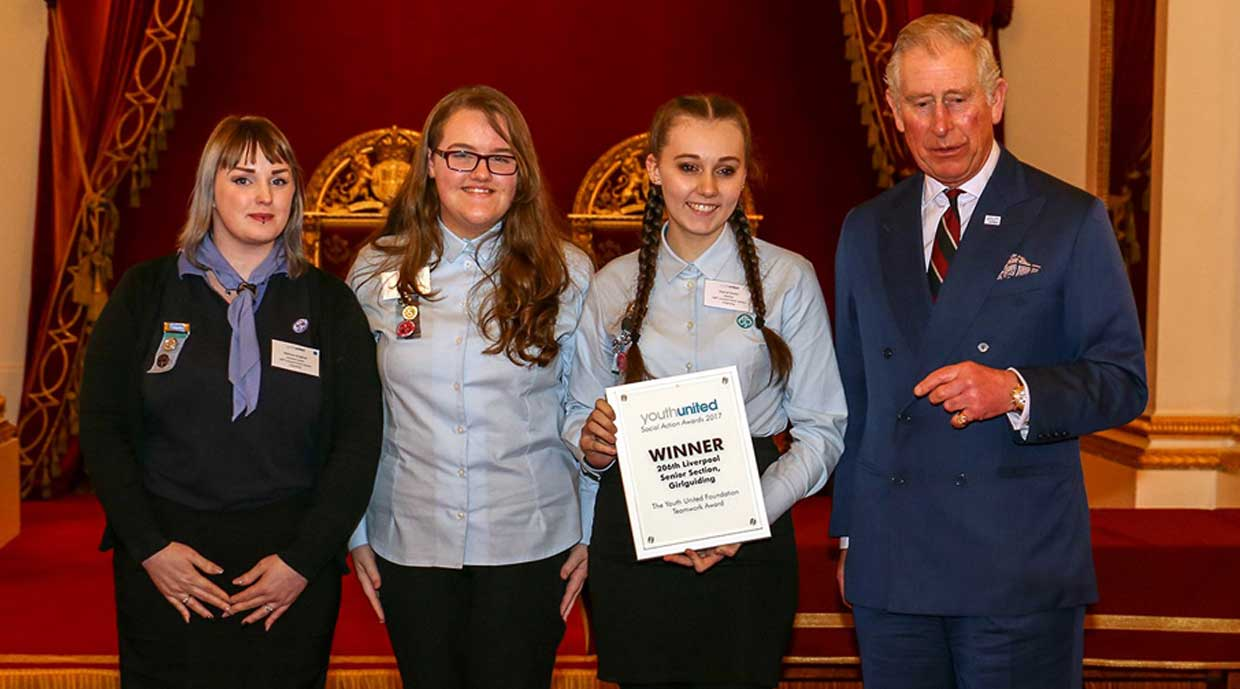 Inspirational Senior Section Members win Prestigious Award at Buckingham Palace