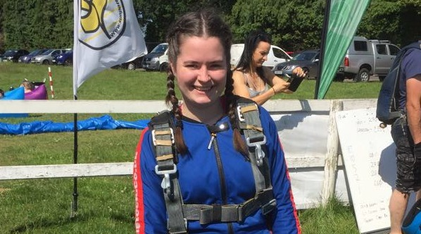 Girlguiding Volunteer Takes Action for Claire House Children's Hospice with Sky Dive
