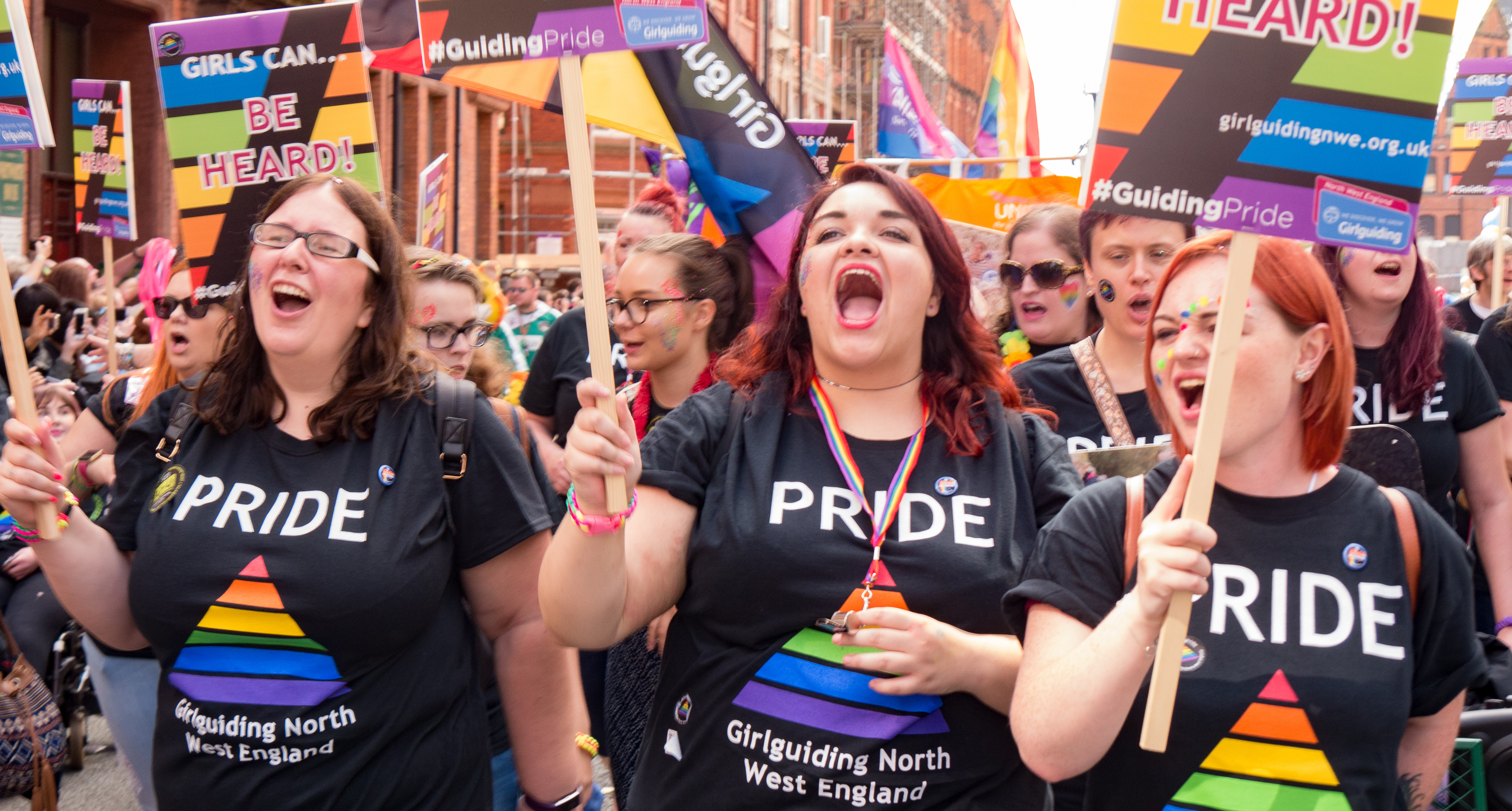 Celebrations at Manchester and Liverpool Pride