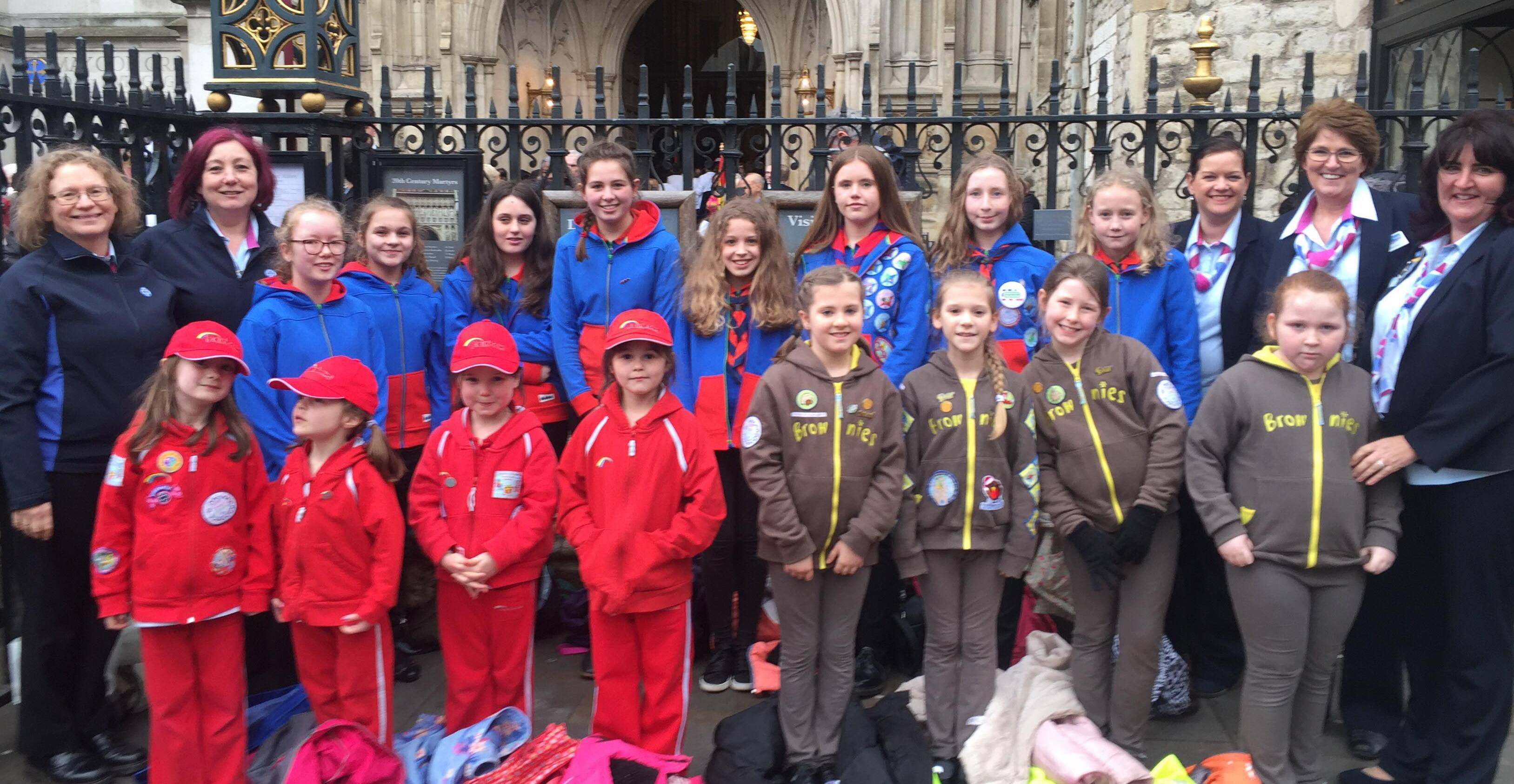 Guiding members celebrate Commonwealth Day at Westminster Abbey